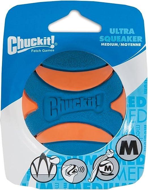 Chuckit! 52068 Ultra Squeaker Ball, 1 Pelota para Perros ...