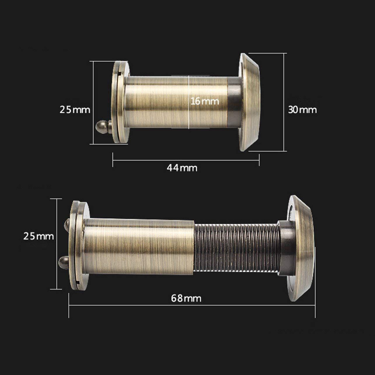 WOSOSYEYO Seguridad para el hogar 200 Grados 35-55mm Puerta Alcance Mirilla Visor Mirada Agujero Gran Angular Retr/áctil Mirada Segura
