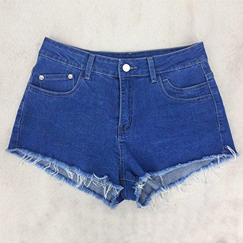 Tasche Donna Denim Pants Shorts Hot Strappati Size Moda Jeans Con Pantaloncini A Sexy Blu Estate Casuale Vita Plus Streetwear Alta F7Fxrq