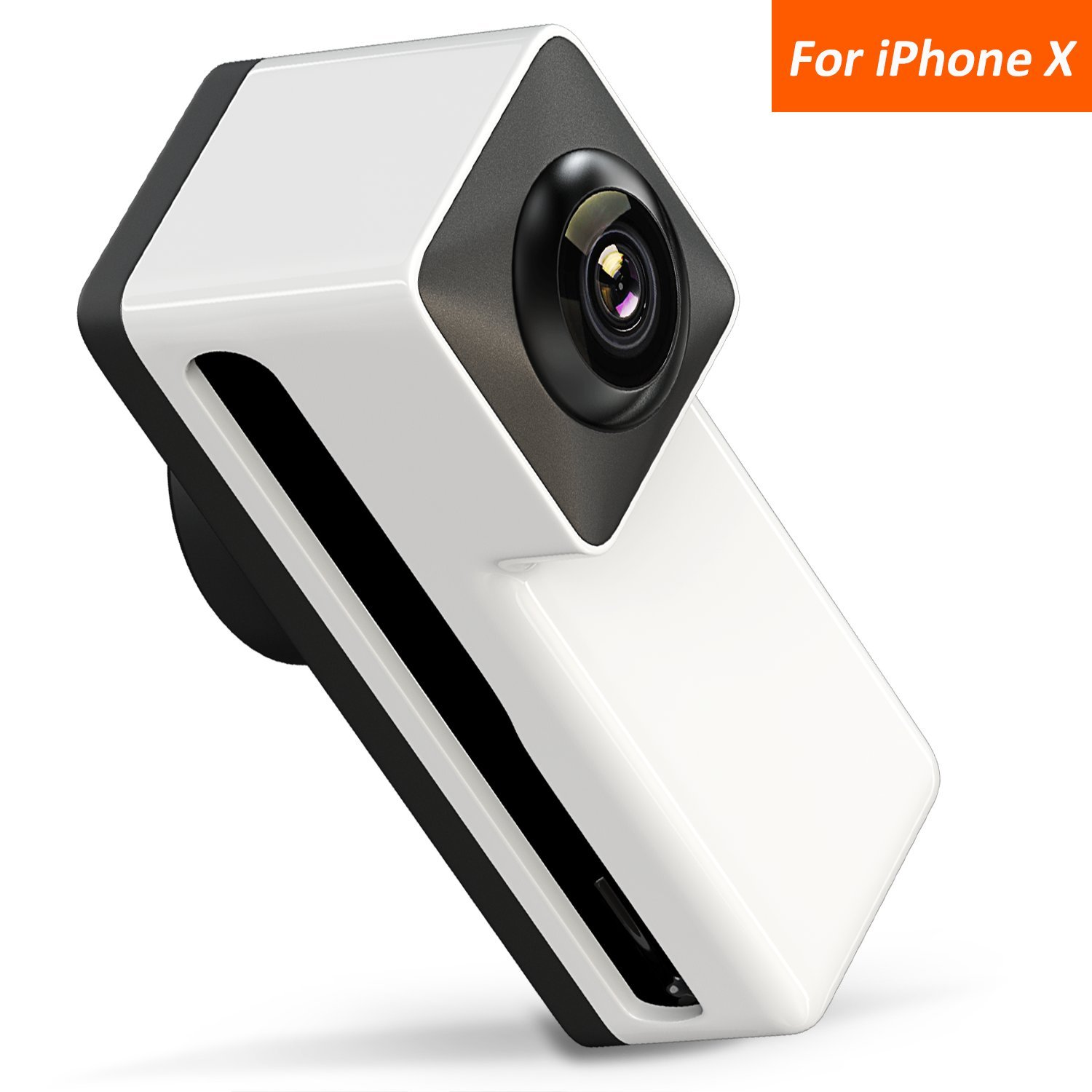 3D Panoramic Lens for iPhone X, Comsoon 360 Degree Phone Lens, Front/Rear 180 Degree Fisheye Lens Design, Make your iPhone a 360° Panoramic Camera, Take Cool Interesting Panoramic Photos (Black)