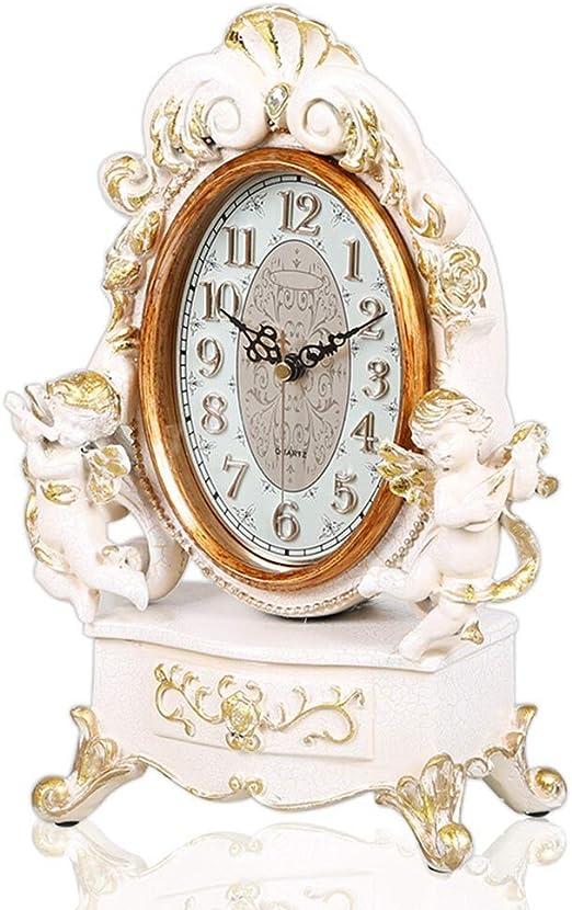 A-ZHP Relojes de Escritorio Reloj de Mesa Sala de Estar Decoración ...