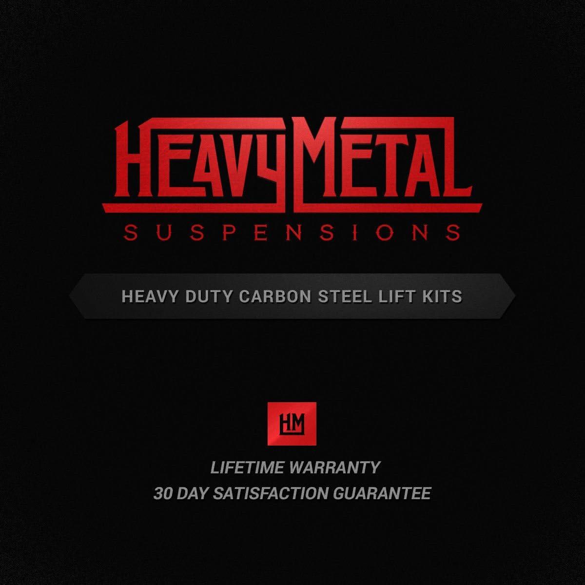 Heavy Metal Lift Kits Hummer H3 2.0 Rear Shackles High-Grade HEAVY STEEL 2006-2010 Hummer Lift Kit