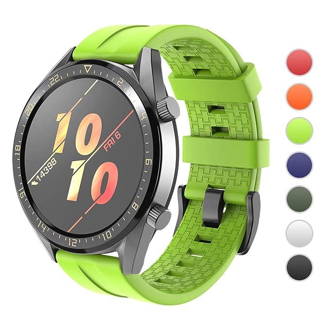 NotoCity - Correa de Silicona para Reloj Huawei GT/Samsung ...