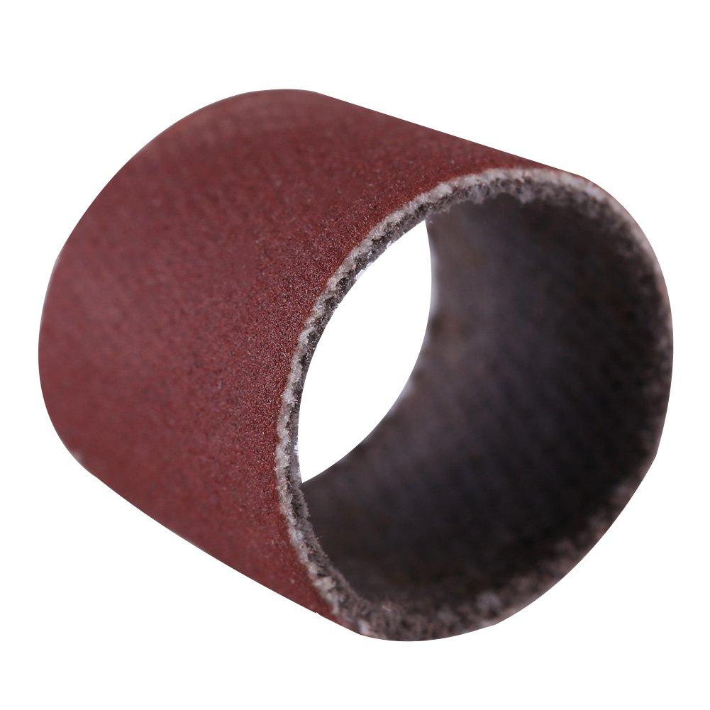 Akozon Grinding Sanding Drum Kit #80 Drum Sanding Sandpaper Bands Sleeves Mandrel Woodworking Craft Polishing Kit 80//320//600Grit
