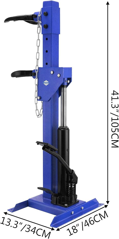 Bisujerro Compresor del Resorte Helicoidal 1T Compresor del Resorte Hidr/áulico 1T Compresor de Muelles Compresor de Muelles Helicoidales Compresor del Resorte Color Azul