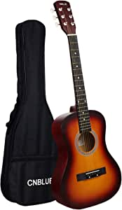 CNBLUE Acoustic Guitar 36 inch Beginner Classical Guitar for Kid 3/4 Size 6 Steel Strings Guitar Starter Kits with Gig Bag