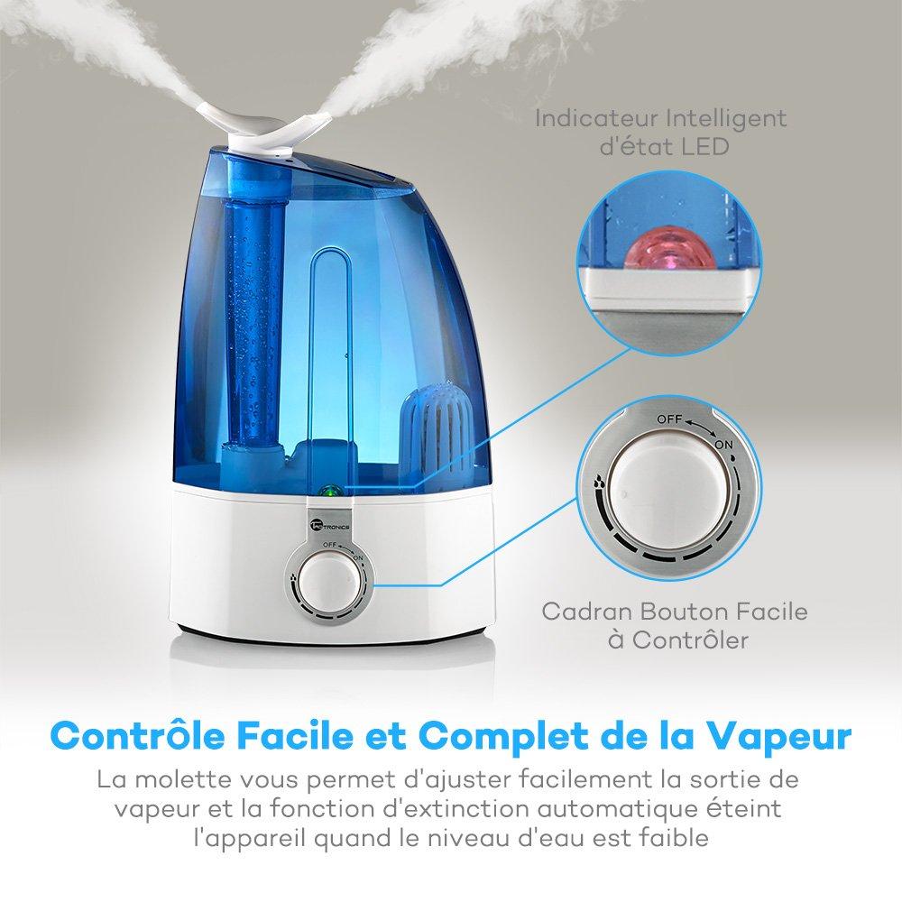 3,5 l azul TaoTronics/ /Humidificador de aire por ultrasonidos