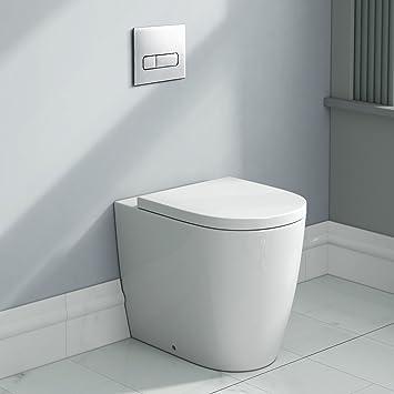 Luxus Runde Wieder Zu Wand WC Pfanne U0026 Sitz Modern Keramik Badezimmer WC  Ct610btw