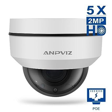 f0619d6b54c Amazon.com   Anpviz PoE IP PTZ Dome Camera 1080P 5X Optical Zoom 2.7 ...