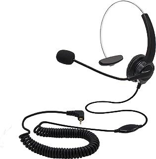 Avalle Yealink Auriculares de Diadema con Cable de conexi/ón y cancelaci/ón de Ruido para Yealink T23 T46 T22 Snom710 Grandstream GXP2140