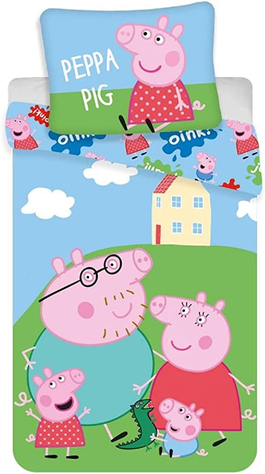 Peppa Wutz Pig Bettwäsche 100 x 135 cm oder 140 x 200 cm Set 2-teilig