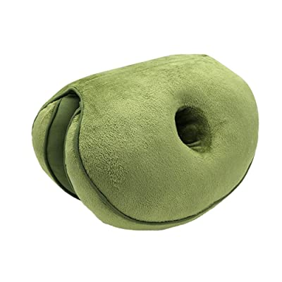 QIEZI Massage Chair Seat Cushion Push Up Yoga Orthopedic Comfort Foam Tail Pillow Car Office Seat Cushion-Green_Sponge_U.S: Home & Kitchen