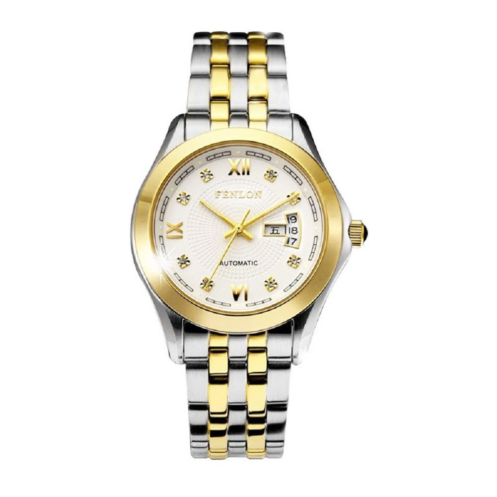 WP- Uhr Armbanduhr Stahlband mechanische Herrenuhren