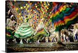 Canvas On Demand Premium Outdoor Canvas Wall Art Print entitled Dancing colors of sao joao, Brazil.