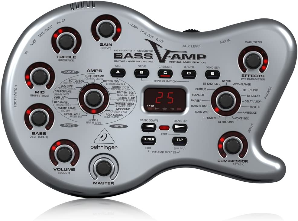 Behringer Bass V-AMP LX1B caja de herramientas de Tono para Bajo ...