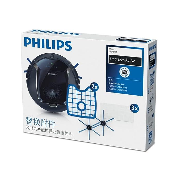 Philips SmartPro Active Robot aspirador FC8068/81 - Accesorio para aspiradora (Azul, Blanco, FC8810 - FC8820, 2 pieza(s)): Amazon.es: Hogar
