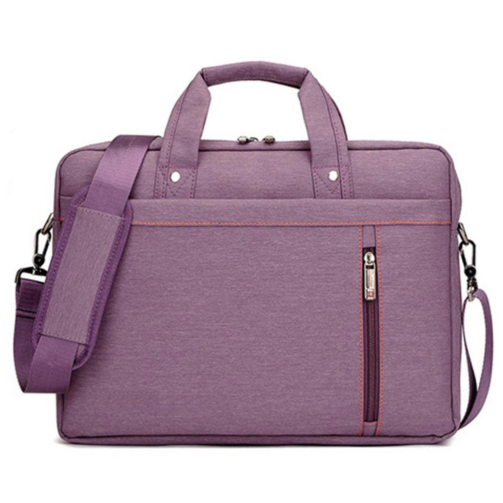 Laptop Case,SNOW WI- 12-13.3 Inch Fashion Durable Multi-functional waterproof Laptop Shoulder Bag Briefcase Case for MacBook Air,MacBook Pro,Acer,Asus,Dell,Lenovo,HP,Samsung,Sony,Toshiba(Purple) by SNOW WI (Image #2)