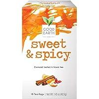 Good Earth Organic Sweet & Spicy Herbal and Black Tea 18 Bags ( 3 Pack)