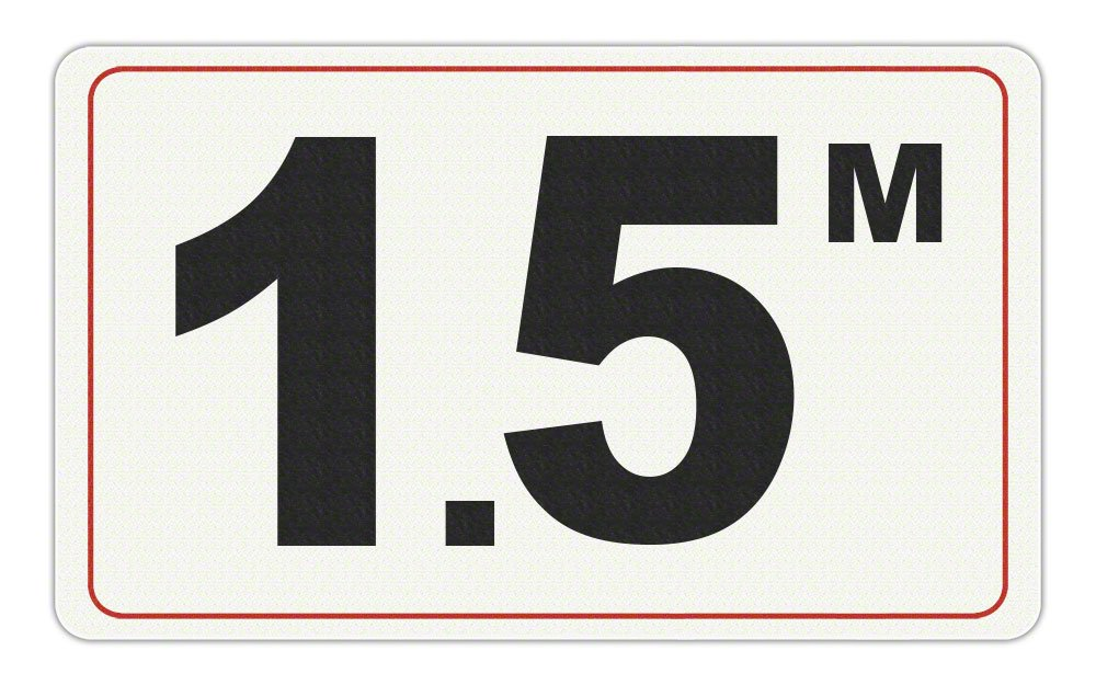1.5 M - Adhesive Depth Marker - 10 Inch x 6 Inch with 4 Inch Lettering