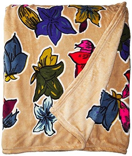 Vera Bradley Throw Blanket, Falling Flowers Neutral