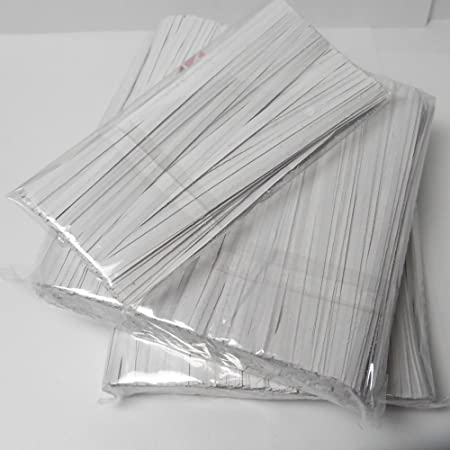 2 Weststone 100pcs 4 Paper Kraft Twist Ties for cello bags