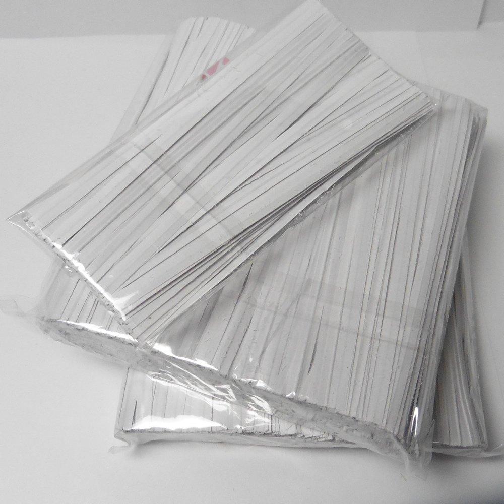 Weststone TWISTPWT-2000 4'' Paper Twist Ties, White, 2000 Piece …