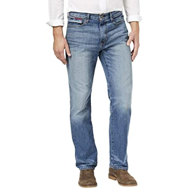c7f0860d Tommy Hilfiger Men's Relaxed-Fit Parker Jeans at Amazon Men's Clothing  store: