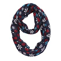 MissShorthair Christmas Infinity Scarf Lightweight Loop Holiday Gift Idea