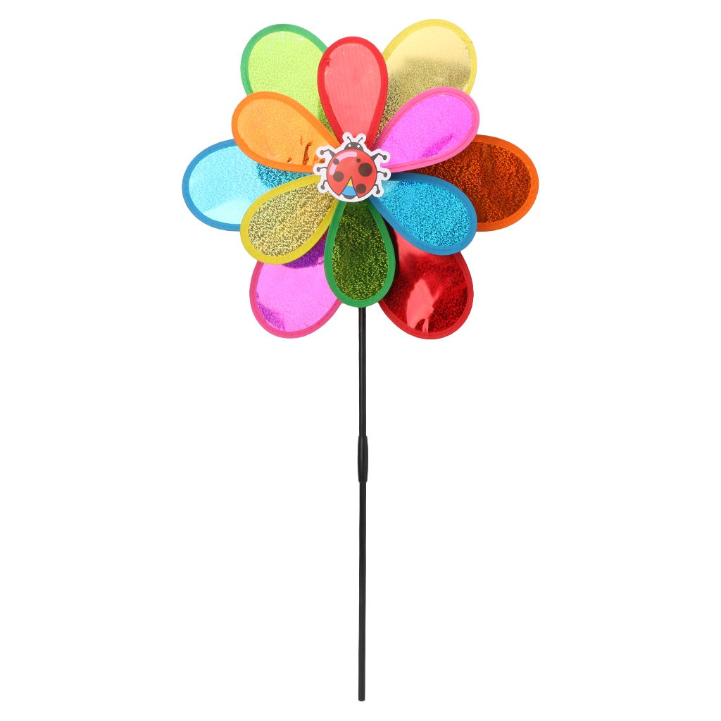 YUAYAN - Hot Double Layer Windmill - Wind Spinner Sequins Whirligig Home Yard Party Decor