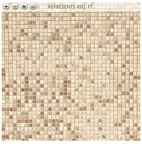 Noche/Chiaro 12 in. x 12 in. x 10 mm Travertine Mesh-Mounted Mosaic Tile