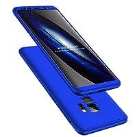 Galaxy s9 Plus Hülle 3 in 1 Handy Hülle Ultra Dünn Hartschale 360 Grad Full Body Schutz Stoßdämpfend Anti-Fingerabdruck Glatte Griff Hybrid Etui Bumper Case Cover