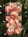 Candy Cane Frosted Ball Ornaments Christmas Trim a Tree Decoration 19 Ct