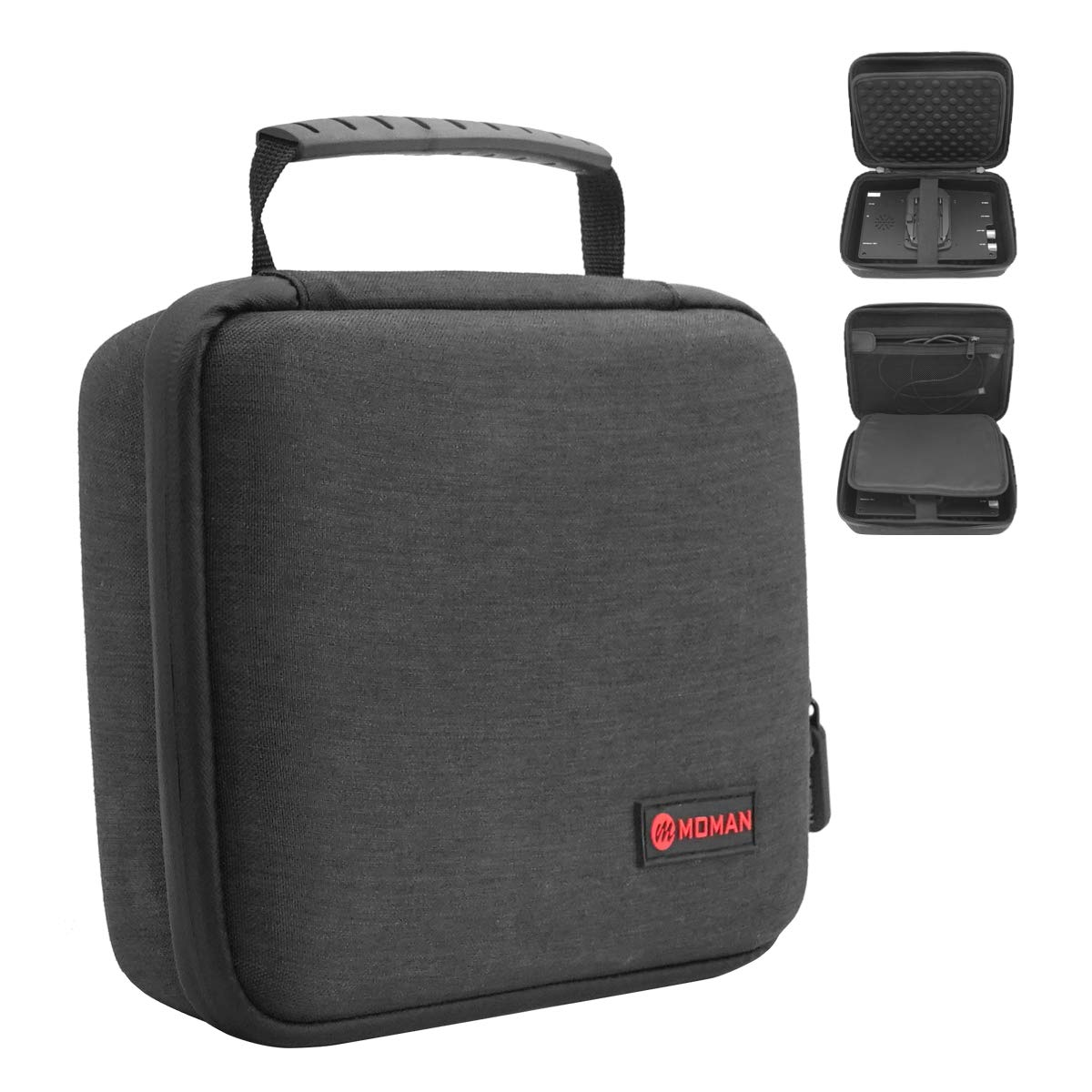 Moman EVA Travel Case 7 Inch, Multi-Functional Waterproof Protective Light-Weight Carrying Bag, for Feelworld Neewer Monitor Video Light Photography Accessories