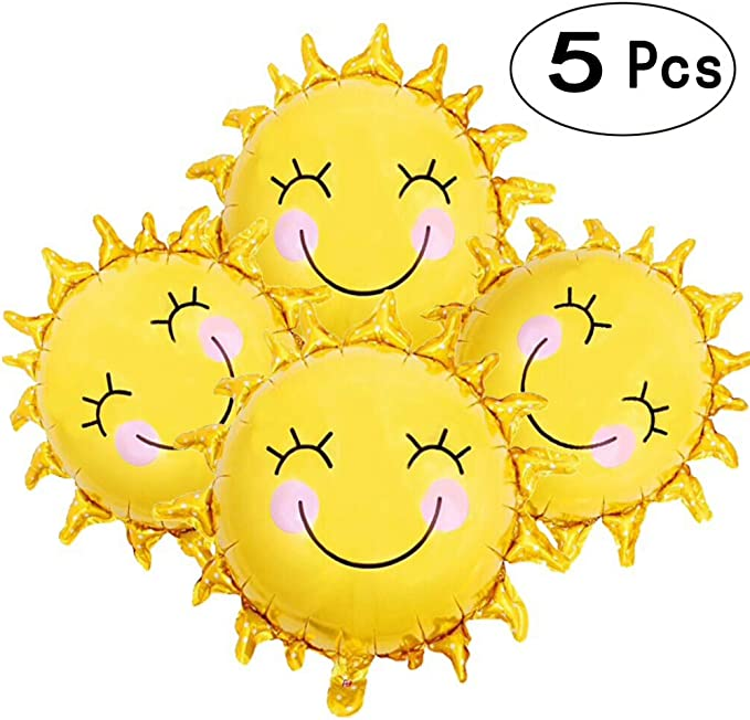 18pcs Smiley Face Latex Balloons Pack Yellow For Party Wedding Birthday Occasion