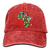 roylery 2018 Adult Fashion Cotton Denim Baseball Cap Africa Flags Classic Dad Hat Adjustable Plain Cap