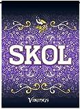 Minnesota Vikings SKOL Rico Premium 2-sided GARDEN Flag Outdoor House Banner Football
