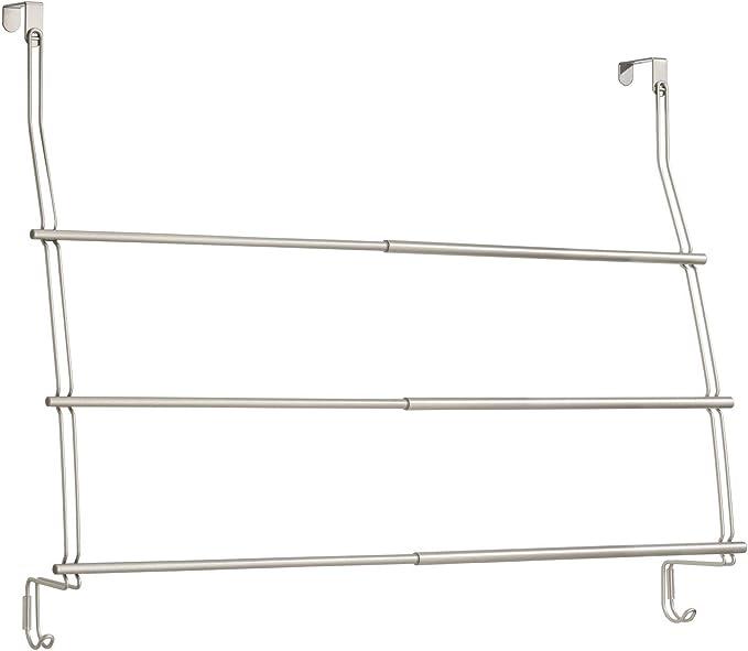 InterDesign - Neo - Toallero Extensible, para Colgar sobre Perfil de Puerta/Puerta del cubículo de Ducha; para el Cuarto de baño - Satinado: Amazon.es: Hogar