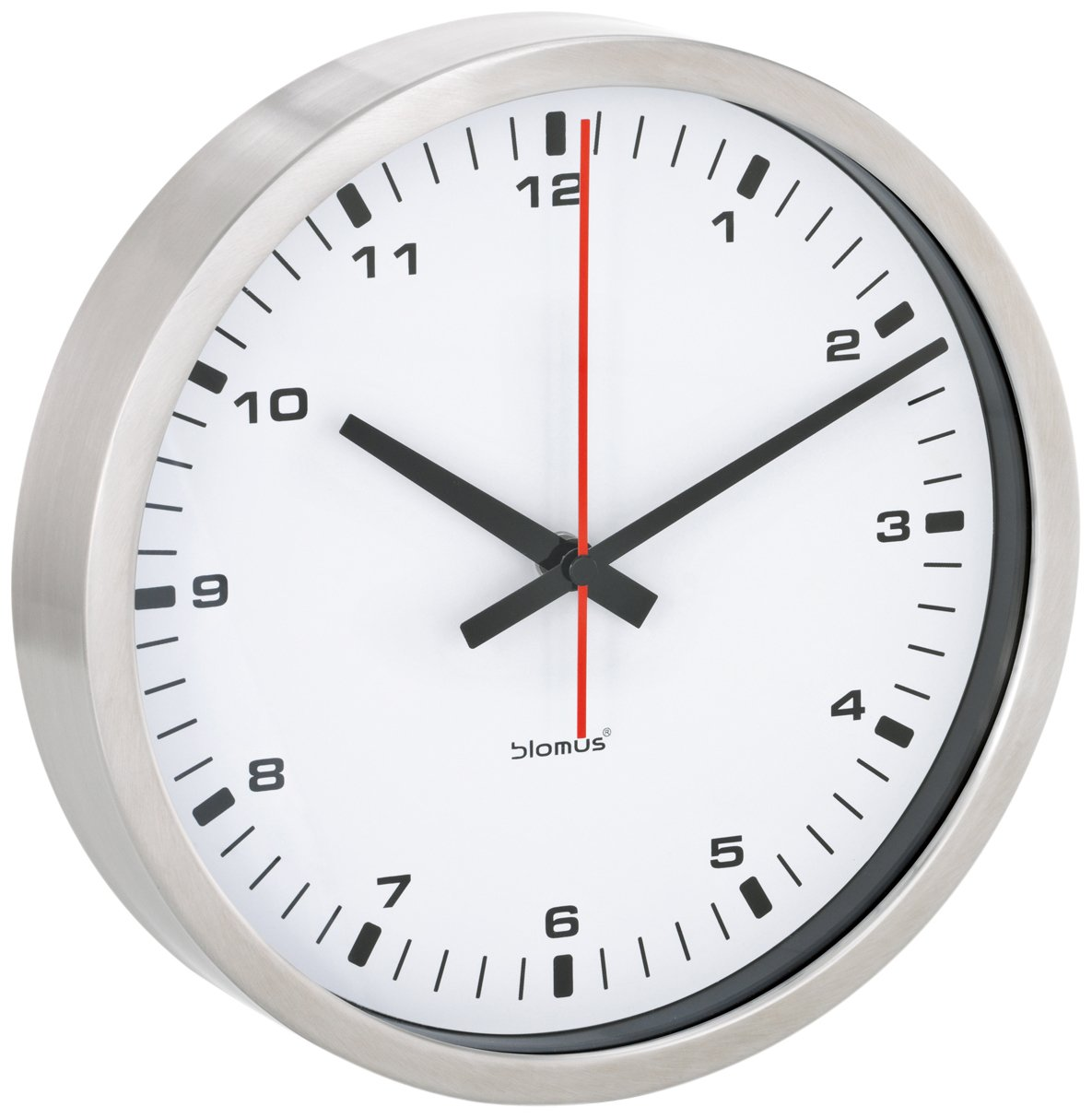 Amazon blomus wall clock white 24 centimeters home kitchen amipublicfo Image collections