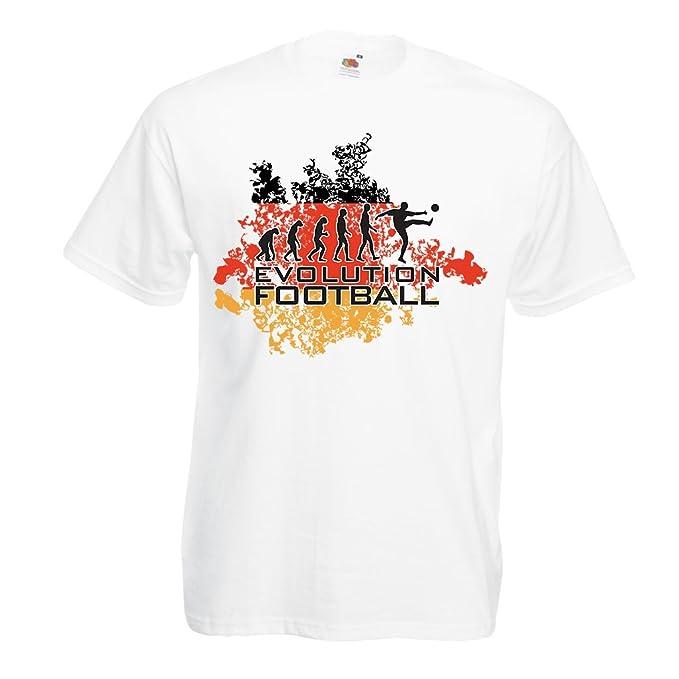 Camisetas Hombre Evolución del Fútbol - Alemania, Campeonato de Rusia 2018, Fútbol de la Copa del Mundo, Camisa del admirador de Equipo Alemana: Amazon.es: ...