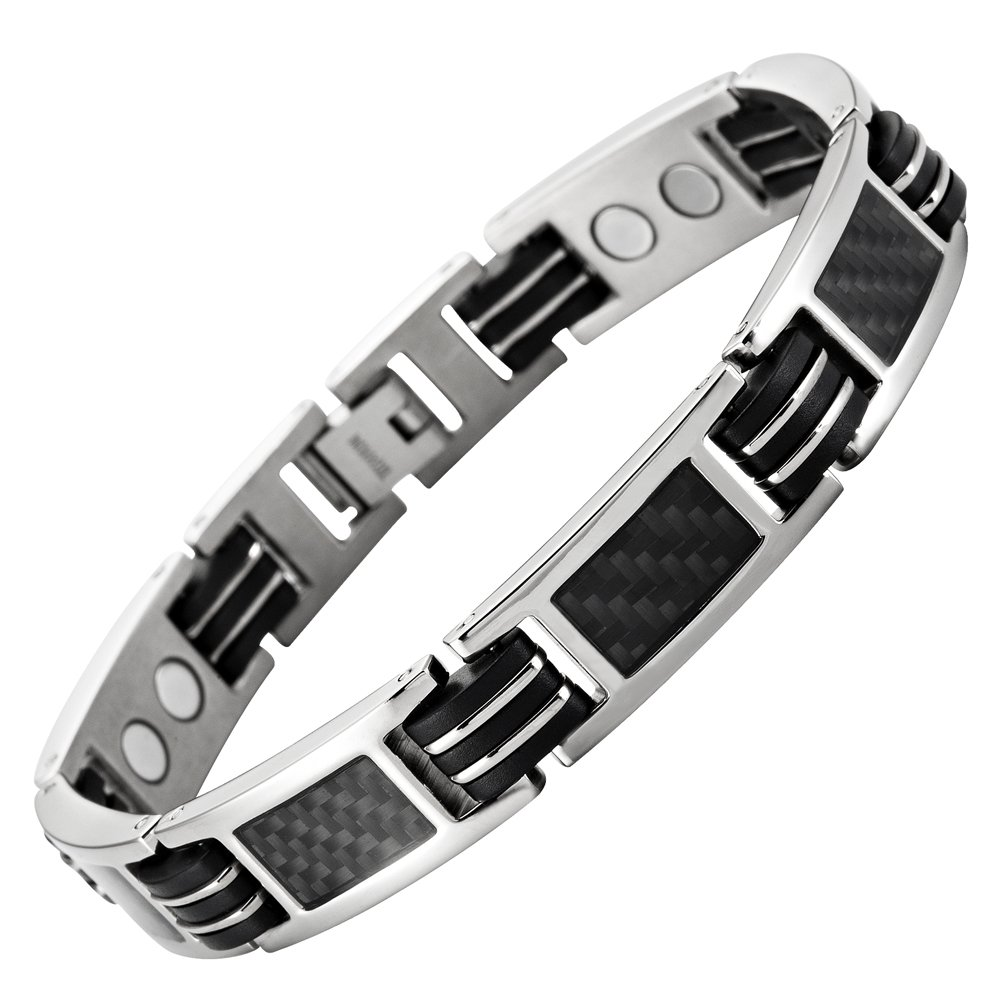 Carbon Fiber Titanium Magnetic Bracelet Adjustable Included By Willis Judd