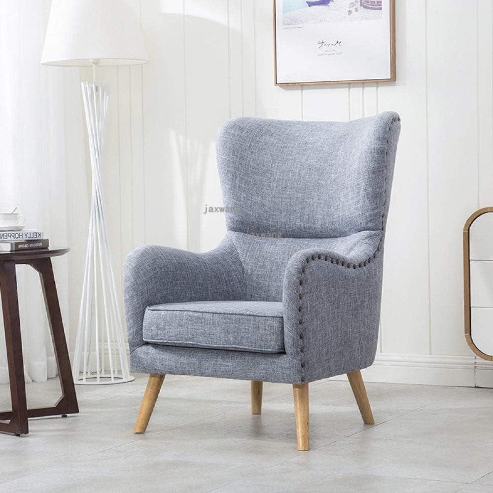 POUPDM canapé Simple Chaise Salon Moderne canapé Chaise Chaise Tissu Style européen inclinable canapé Chaise Longue Meubles, A G