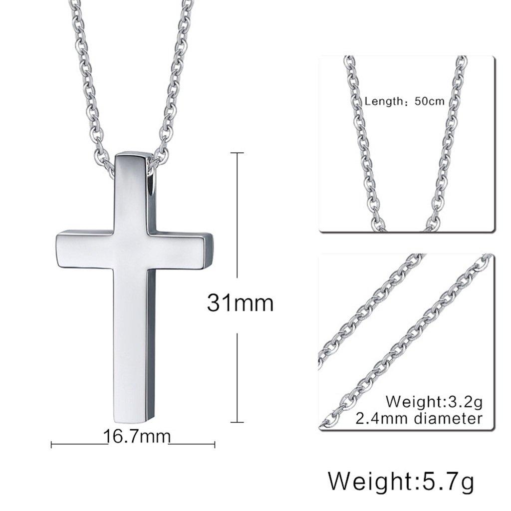 965f3c8bfdc7 Coniea Colgantes Acero Hombre Simple Cruz Cristiana Jesus Plata Colgante  Hombre Plata  Amazon.es  Joyería