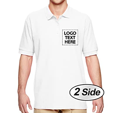 718cb9e82 Amazon.com: NICTIME Custom Men's T Shirt Design Your Own Name Or Logo Front  and Back Print (White 2XL): Clothing