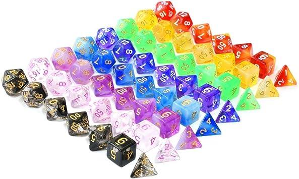 BBGoo Dados De rol Dados Transparentes de Doble Color para Mazmorras y Dragones Juegos de rol Juegos de Mesa MTG: Amazon.es: Juguetes y juegos