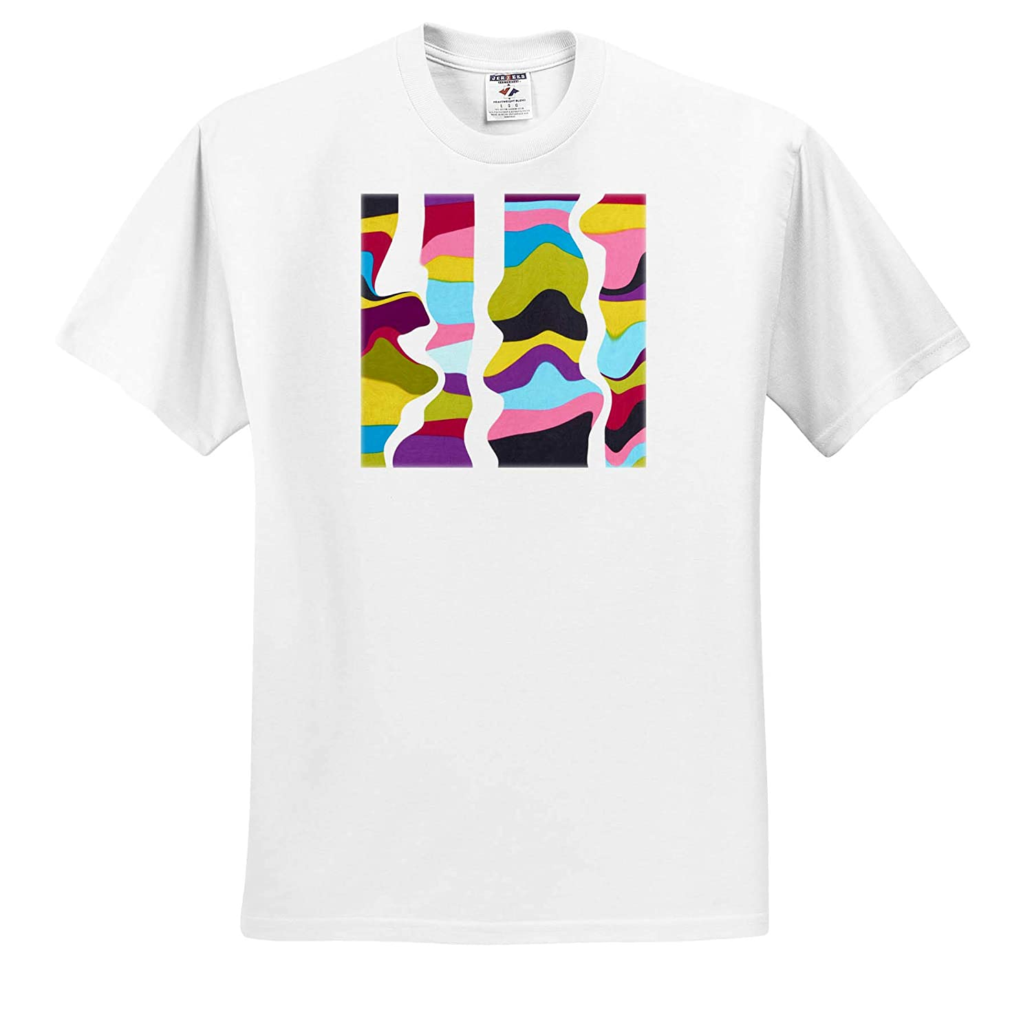Digital Contemporary T-Shirts Image of Digital Painting Rivers of Color Run Thru Our Lives 3dRose Lens Art by Florene