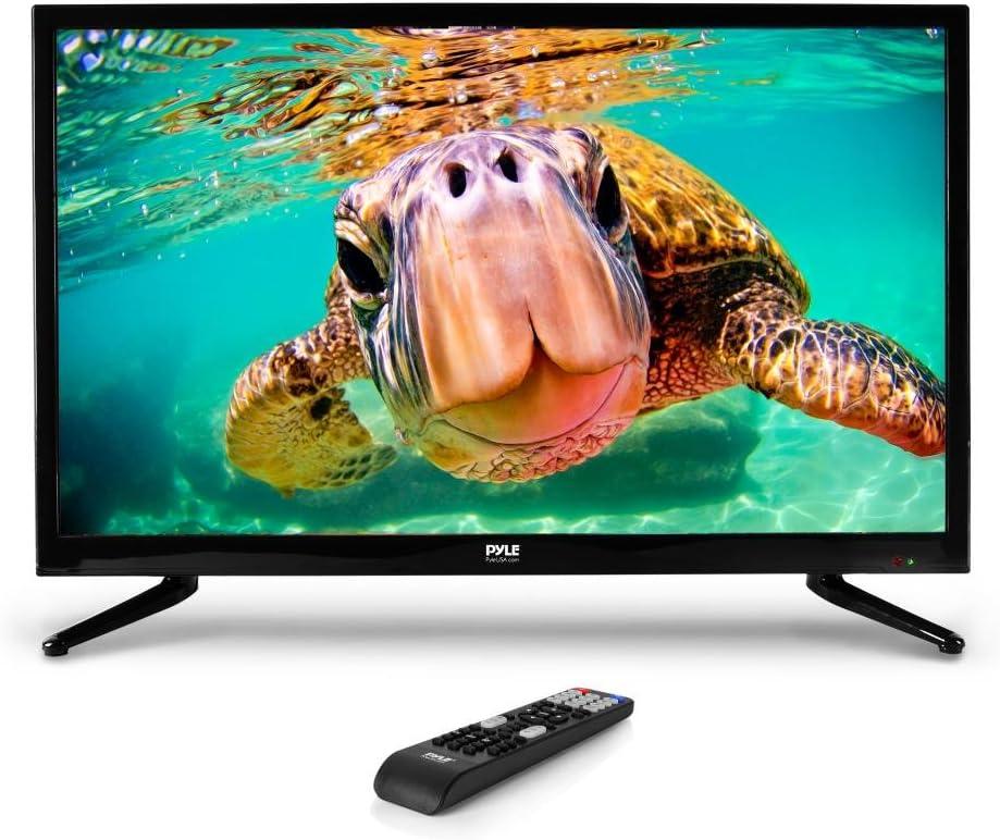 Pyle PTVLED32 - Televisor LED de 32 pulgadas con retroiluminación LED (32 pulgadas, alta resolución de 32 pulgadas, 1080p Ultra HD TV con HDMI, RCA, VGA, funciona con Mac, PC, mando a