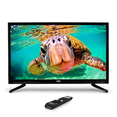 Pyle 32 Inch LED TV HD Television & Monitor with Full HD 1080p Support | HDMI VGA RCA PC Audio Outputs For Digital And Analog Tv |Computer PC & MAC | Slim Flat Screen | Easy Mount Design (PTVLED32)