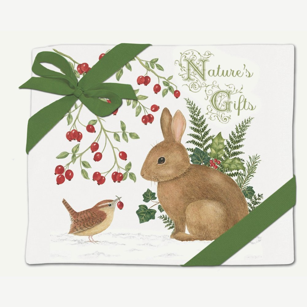 Alice S Cottage Winter Bunny Flour Sack Towel Set Of 2 By Alice S Cottage Amazon In Home Kitchen