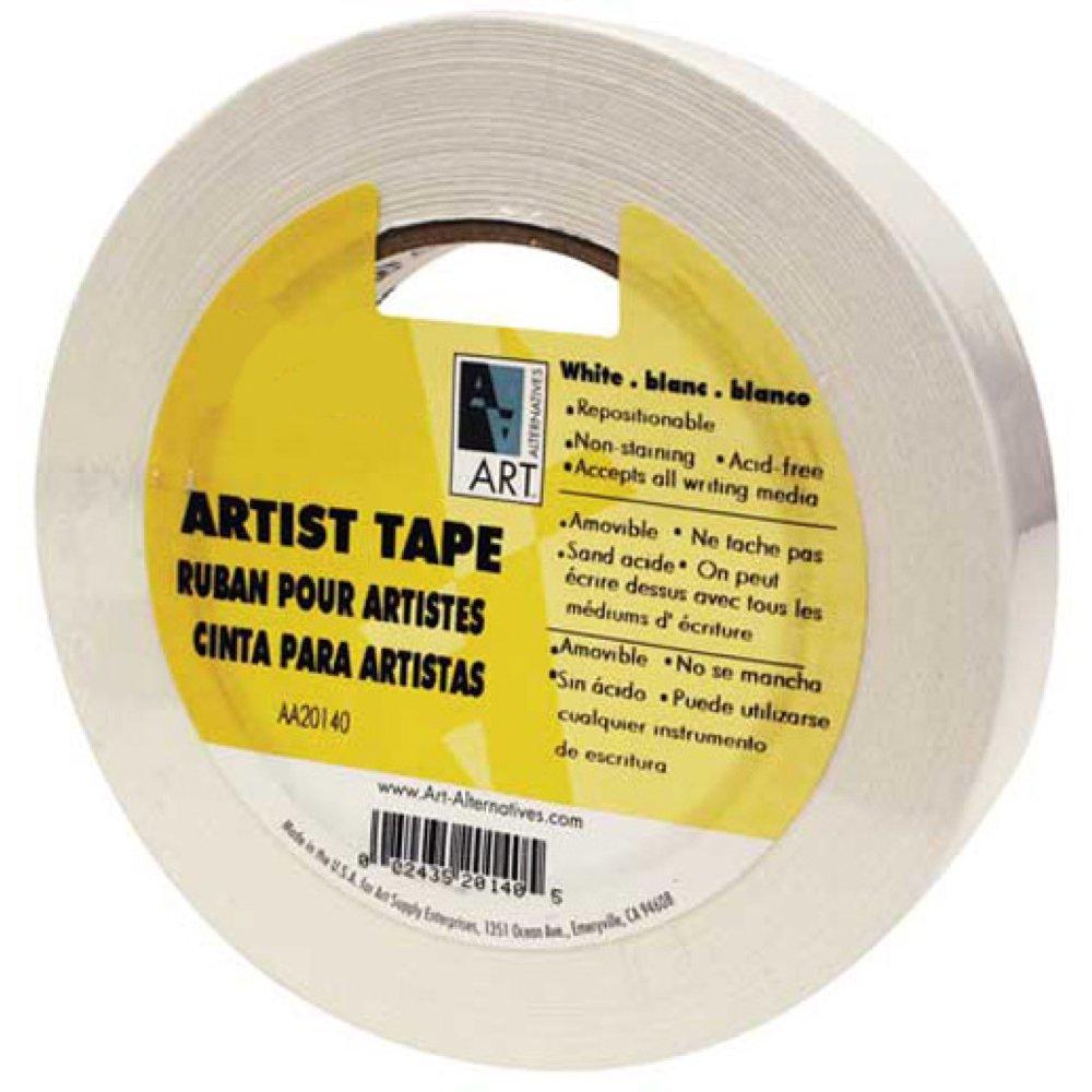Economy White Artists Tape 1/4In X 60Yds by Art Alternatives B0028D8C84