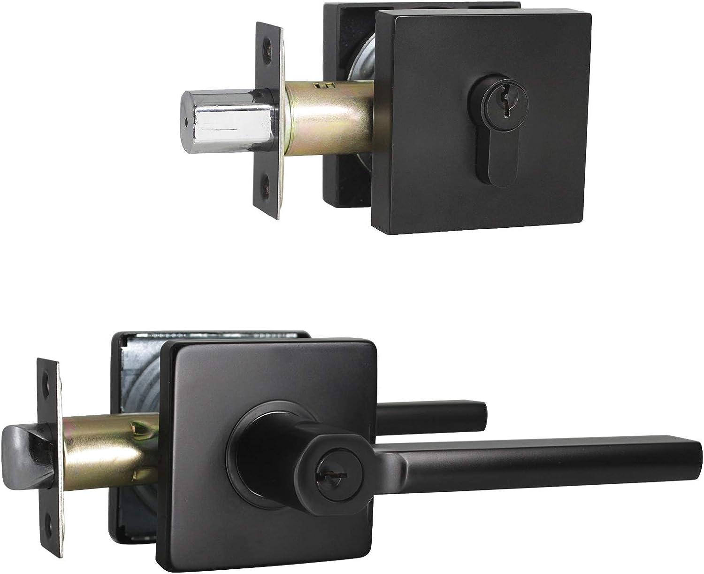 Home Entry Door Lock Set Security Handle Door Privacy Passage Bath Lever Latch